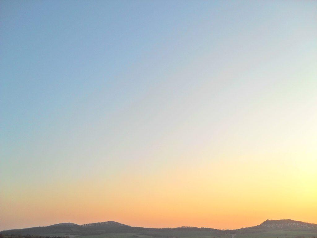 Himmel ohne Streifen